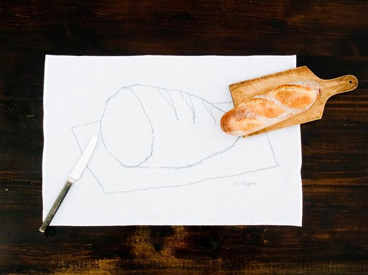 倉敷意匠計画室 mitsou パンが好き晒ふきん/大きなパン