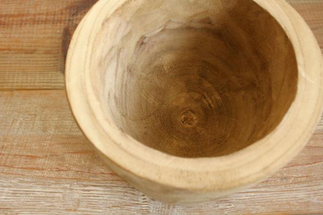 カービングポット/BIG 木製鉢 鉢カバー