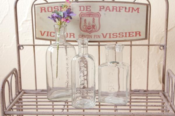 アンティーク風ガラスボトル