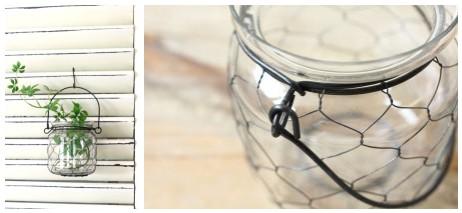 ワイヤー付きガラスホルダー