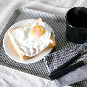 fog リネンコーティングトレイM/グレーホワイトストライプ